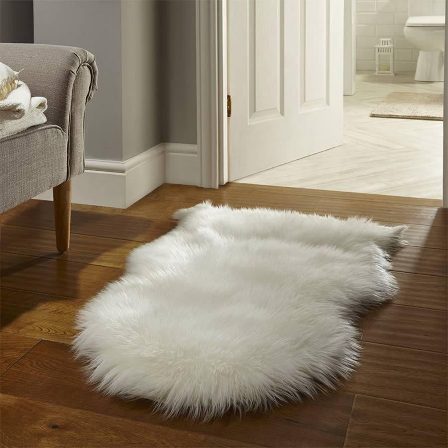 Faux Fur Cream Sheepskin 60 x 90cm