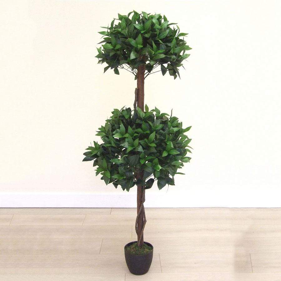 Florelle Artificial Two Ball 4ft Bay Tree in Pot