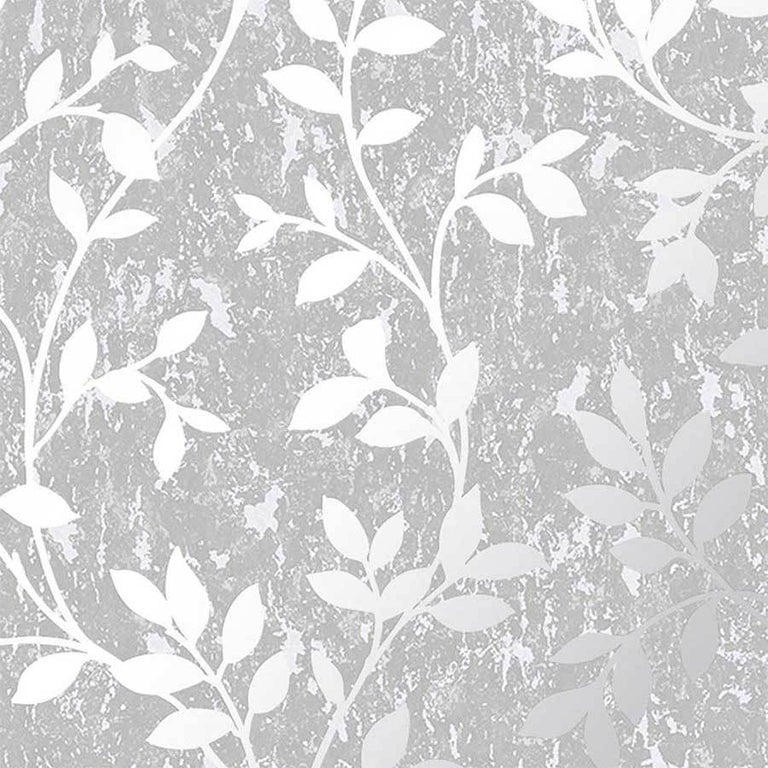 G&B Superfresco Milan Trail Silver Wallpaper Sample - 106404