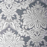Graham and Brown Boutique Charcoal Vogue Damask Sample - 106675