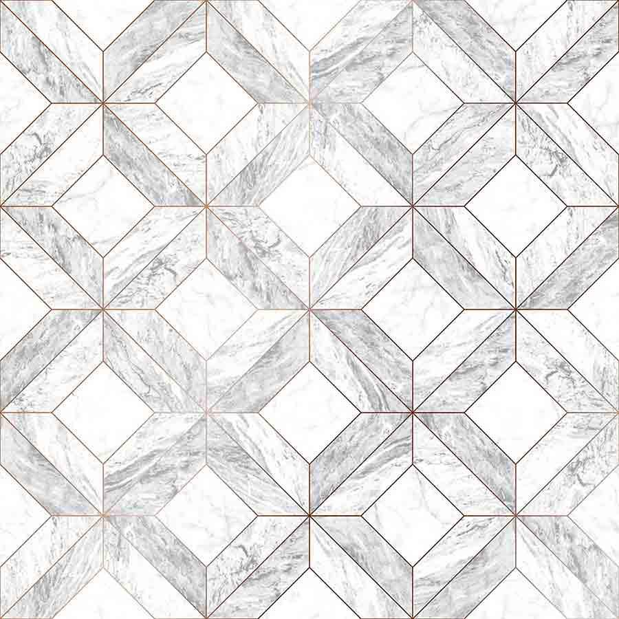 Graham and Brown Contour Grey Marble Marquetry Sample - 103856