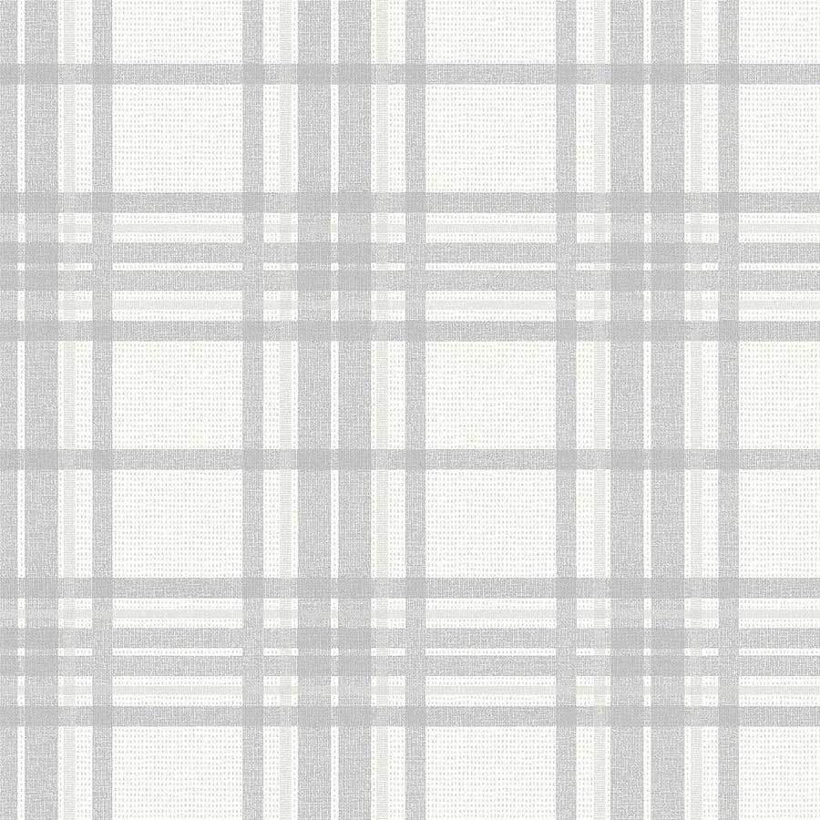 Graham and Brown Silver Tartan Wallpaper Sample - 104804