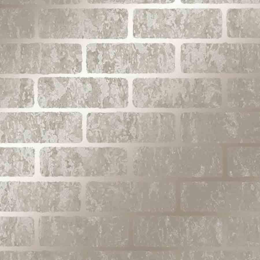 Graham & Brown Taupe Milan Brick Metallic Sample - 106524