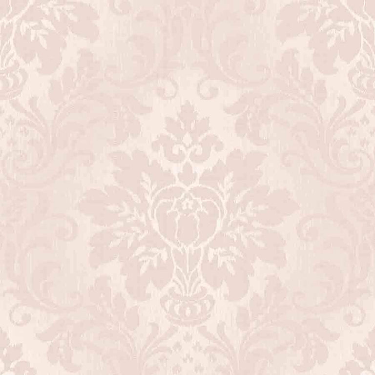 Grandeco Blush Pink Fabric Damask Glitter Wallpaper - A10906