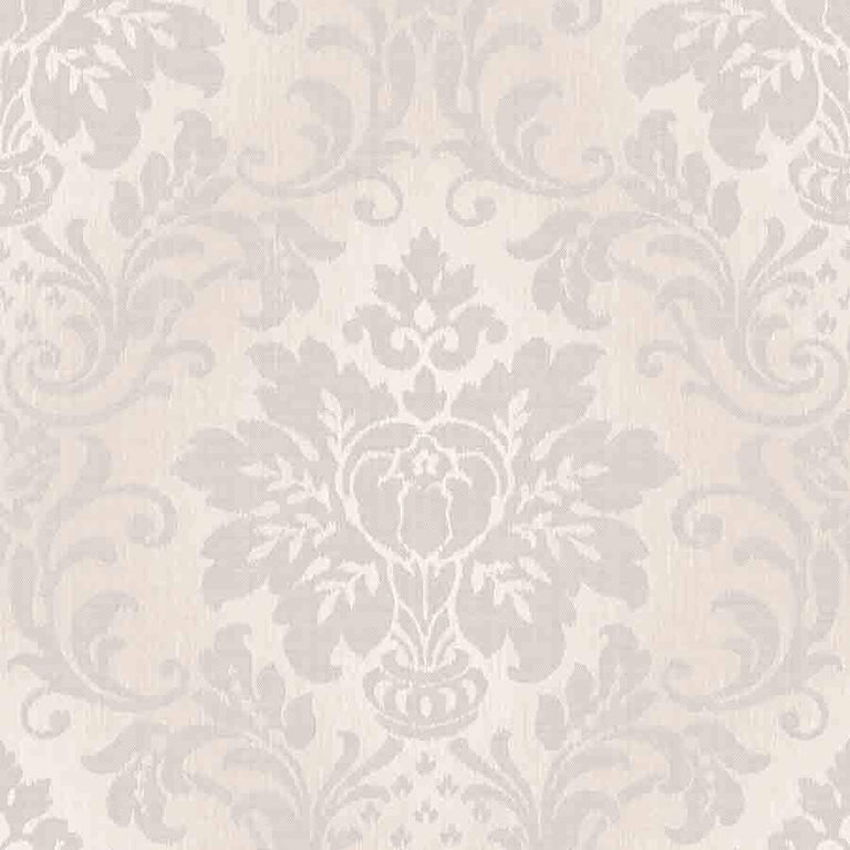 Grandeco Cream Fabric Damask Glitter Wallpaper - A10908