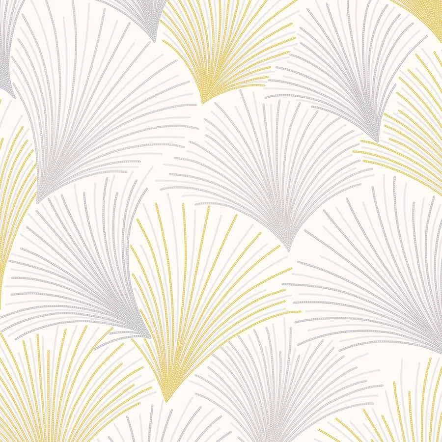 Grandeco Gatsby Yellow/Grey Wallpaper Sample - A43903
