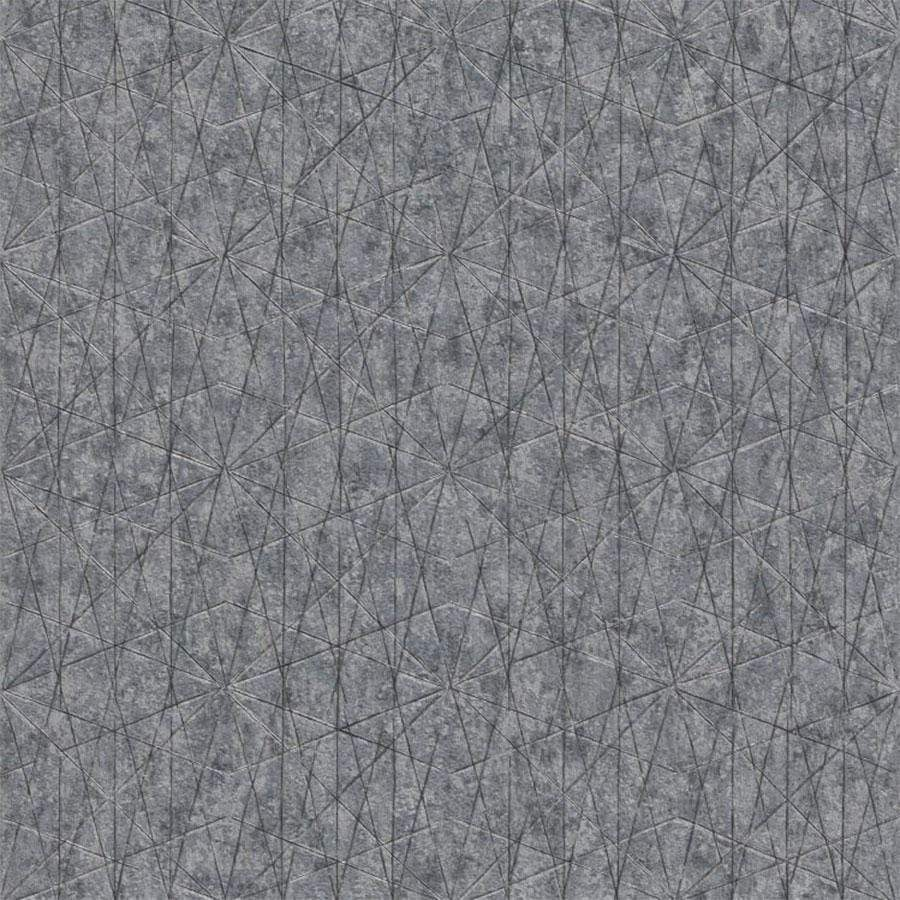 Grandeco Nuances Wari Print Graphite Wallpaper Sample - NU3307