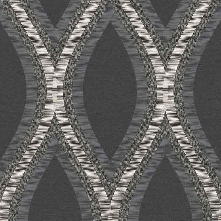 Grandeco Strata Black Geometric Wallpaper - A44501 Grandeco Strata Black Geometric Wallpaper - A44501