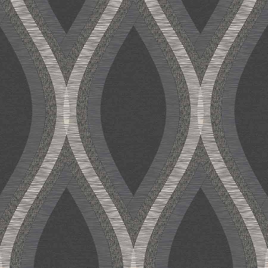 Grandeco Strata Black Geometric Wallpaper Sample - A44501 Grandeco Strata Black Geometric Wallpaper Sample - A44501