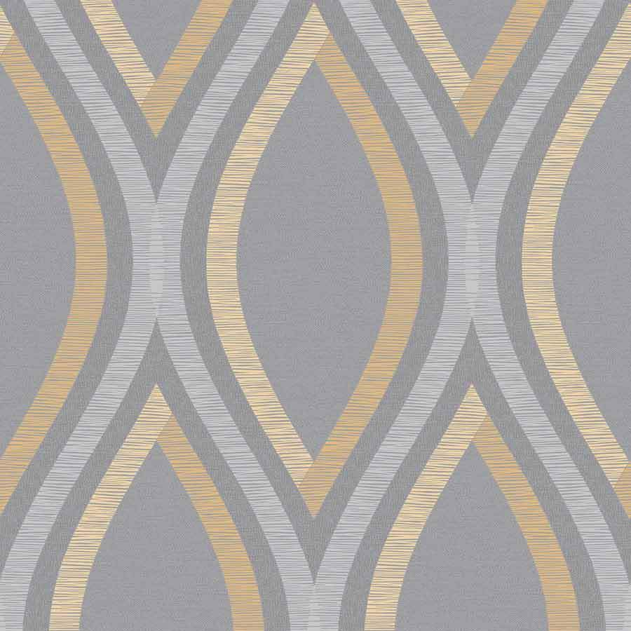 Grandeco Strata Yellow/Grey Geometric Wallpaper Sample - A44503 Grandeco Strata Yellow/Grey Geometric Wallpaper Sample - A44503
