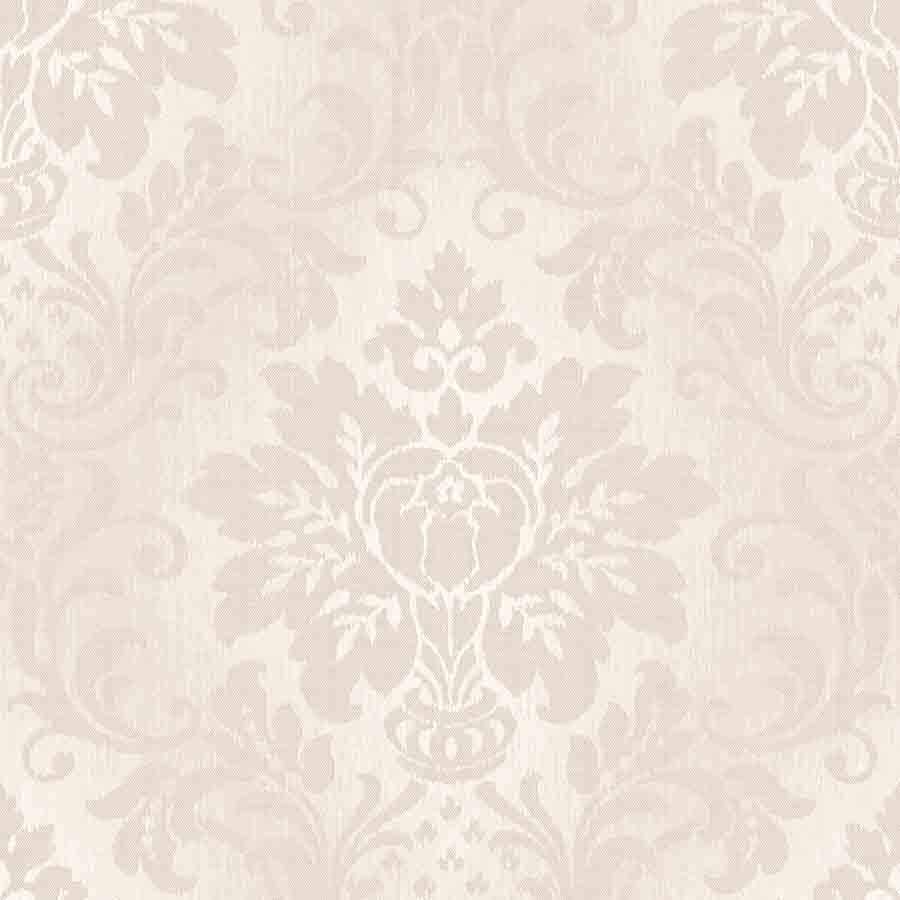 Grandeco Taupe Fabric Damask Glitter Sample - A10907