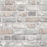 Grandeco Vintage Brick Pastel Wallpaper Sample - A28902