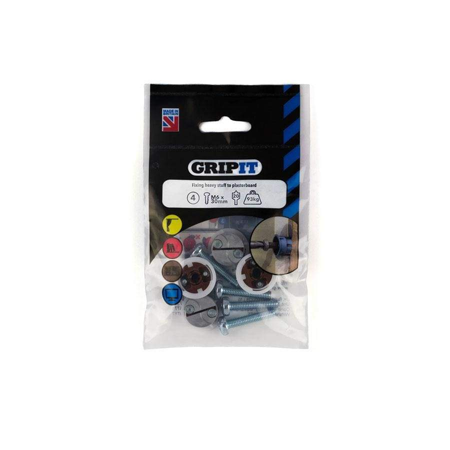 Gripit Pack Of 4 Brown Plasterboard Fixing 20mm
