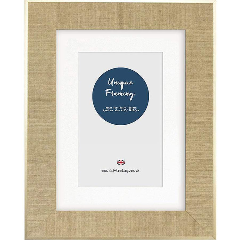 HHJ Knightsbridge Linen Photo Frames 6 x 4