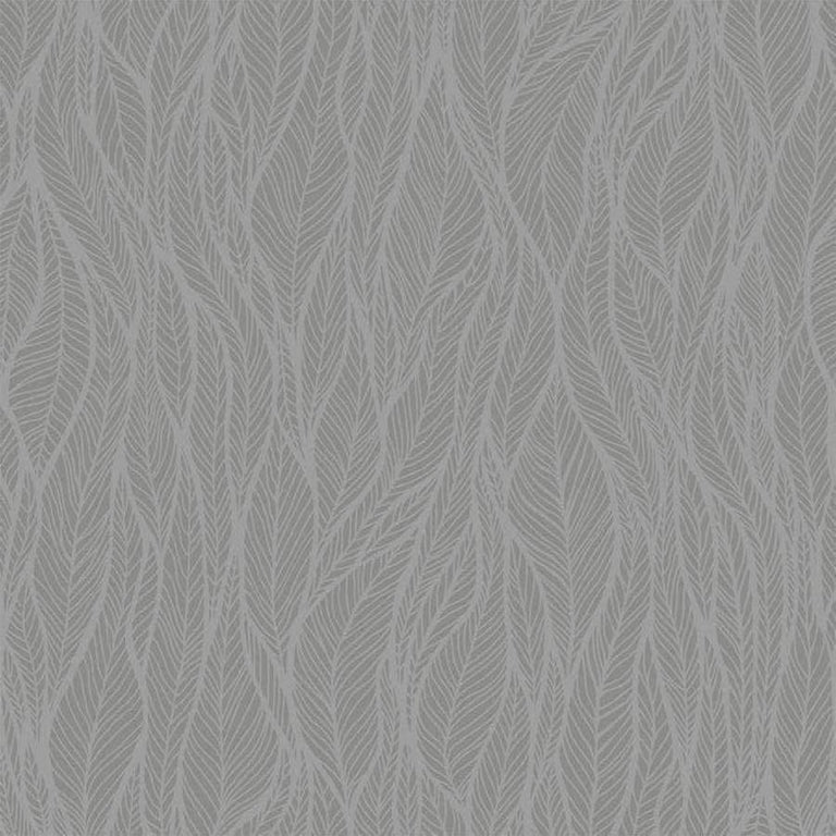Holden Betula Leaves Grey Glass Beaded Glitter Wallpaper - 99312