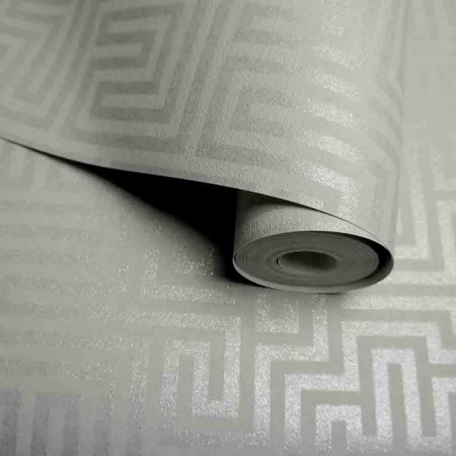 Holden Labyrinth Maze Grey Metallic Sample - 65594