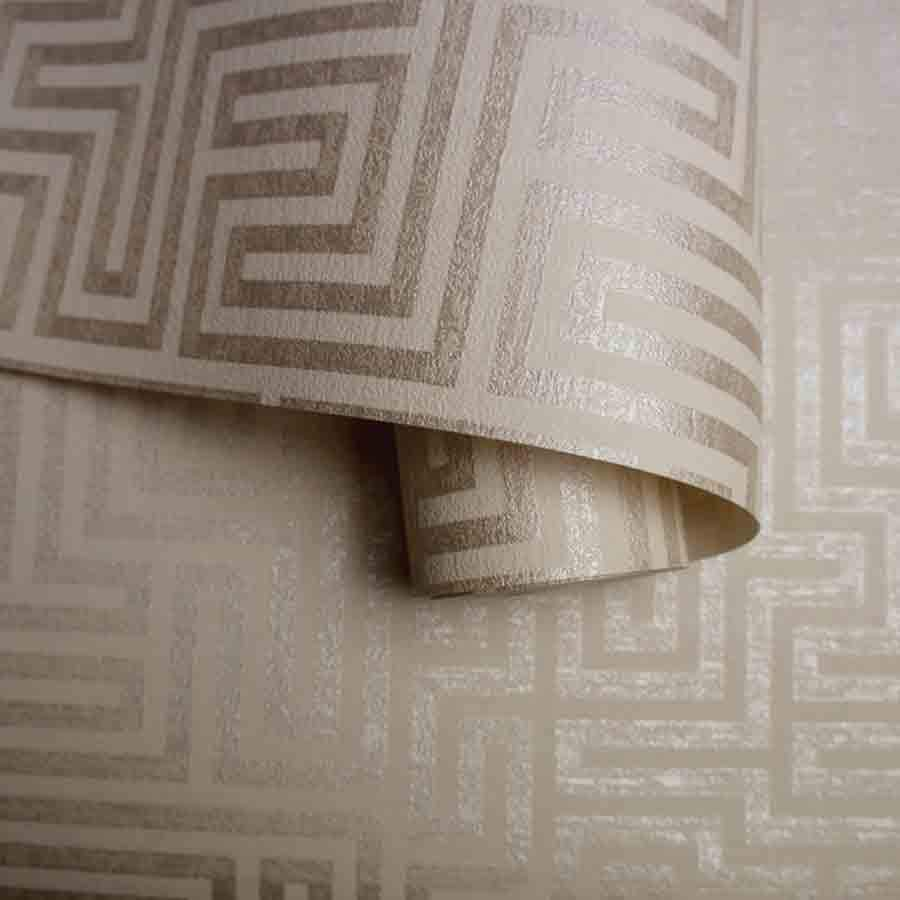 Holden Labyrinth Maze Taupe Metallic Sample - 65592