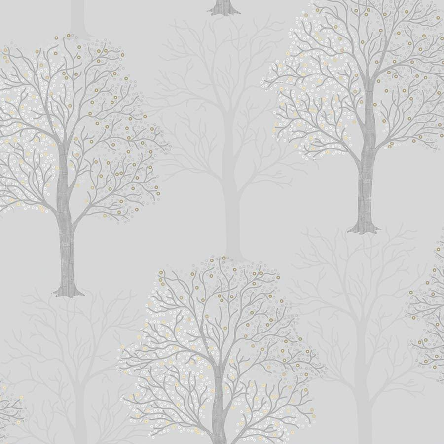 Holden Ornella Tree Light Slate Wallpaper Sample - 35960