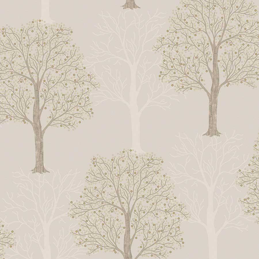 Holden Ornella Tree Taupe Wallpaper Sample - 35961
