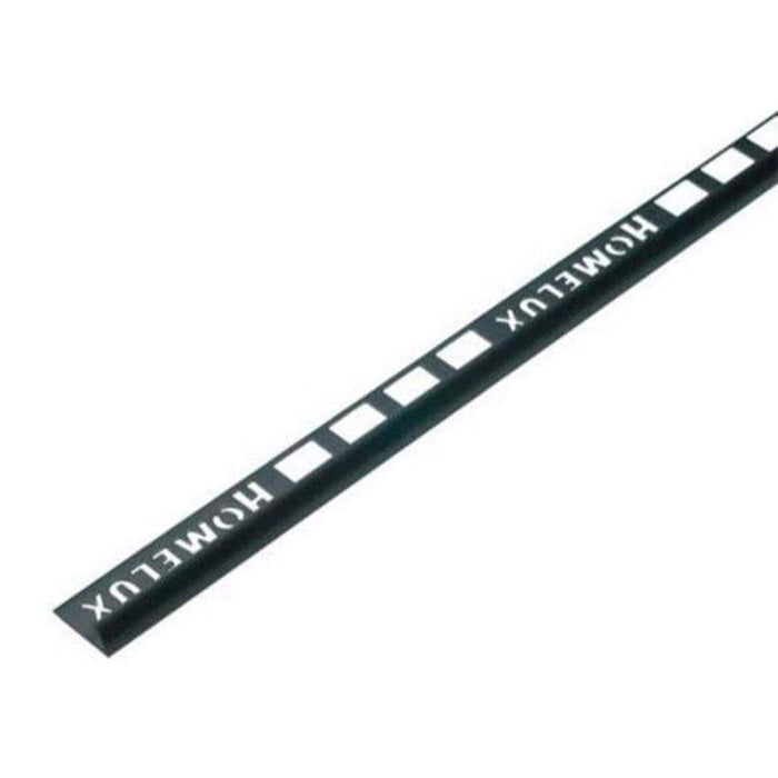 Homelux 12.5mm Round PVC Black Tile Trim 2.5 Metre