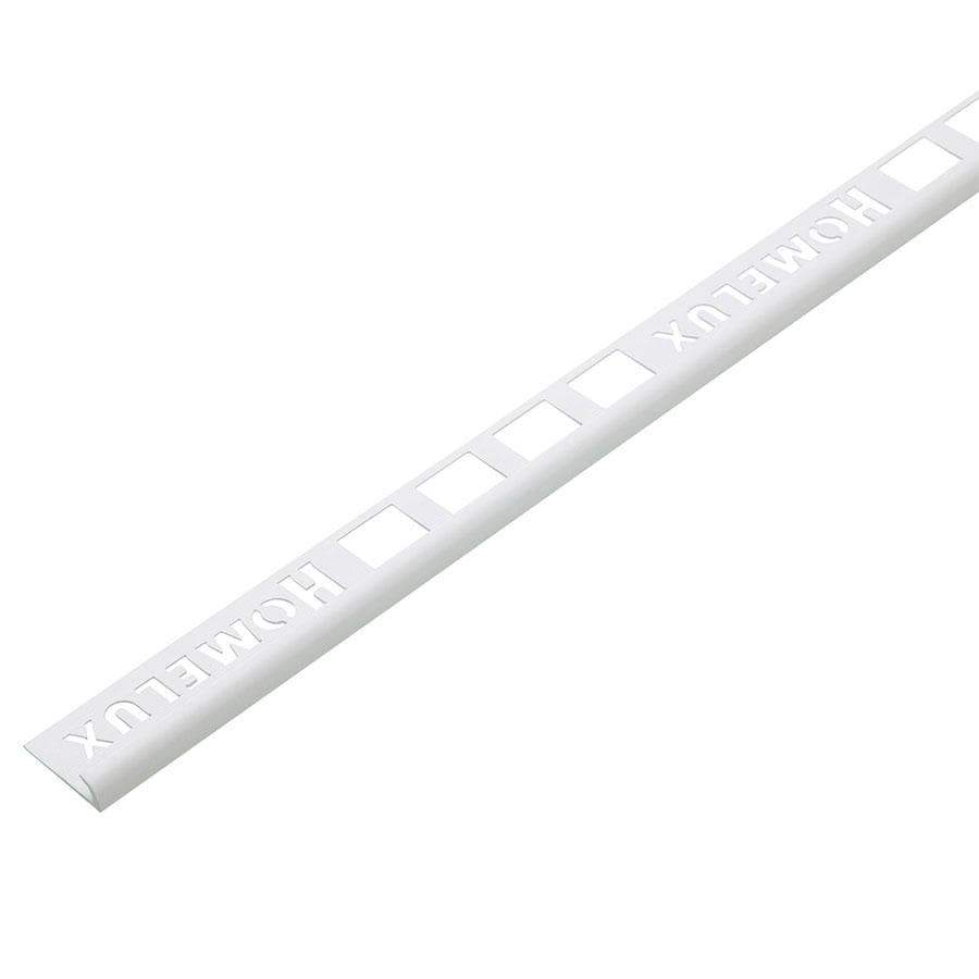 Homelux 12.5mm Round PVC White Tile Trim 2.5 Metre