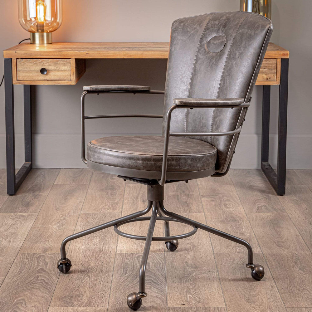 Hue Black Leather Office Chair Hue Black Leather Office Chair