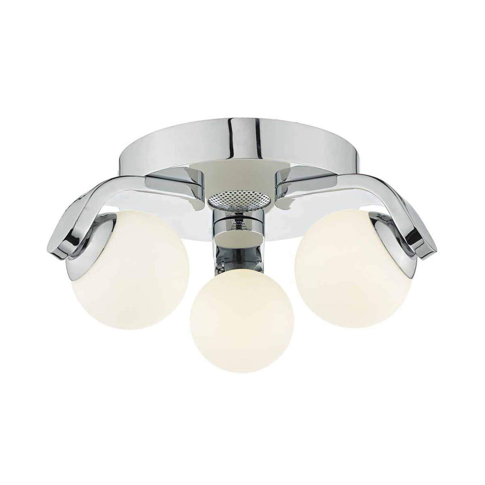 Iker Polished Chrome Bluetooth Flush Bathroom Light - IKE5350 Iker Polished Chrome Bluetooth Flush Bathroom Light - IKE5350
