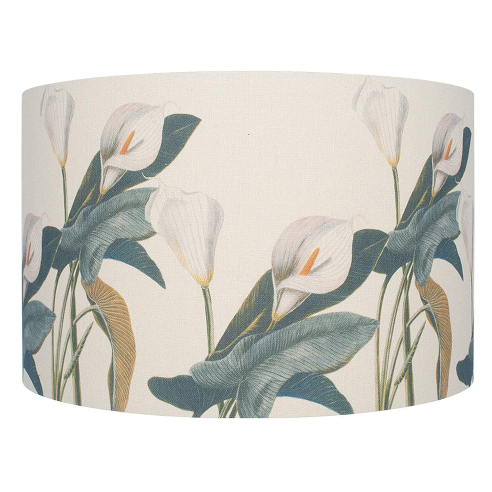 Jenny Worrall Arum Lily Linen Cylinder Shade - 40cm Jenny Worrall Arum Lily Linen Cylinder Shade - 40cm