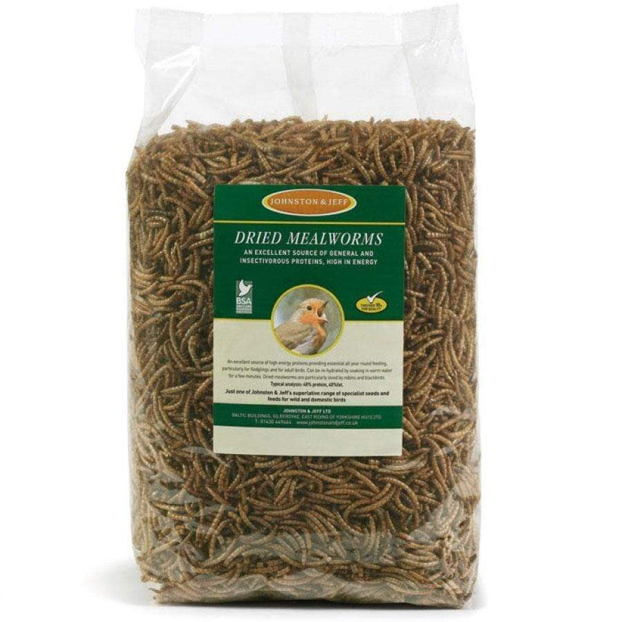 Johnston and Jeff 500g Dried Mealworms