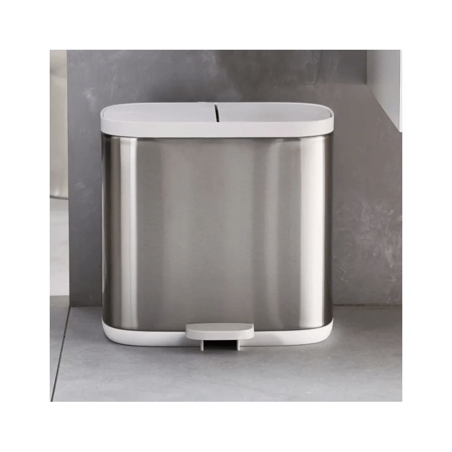 Joseph Joseph Split Steel Waste & Recycling Bin