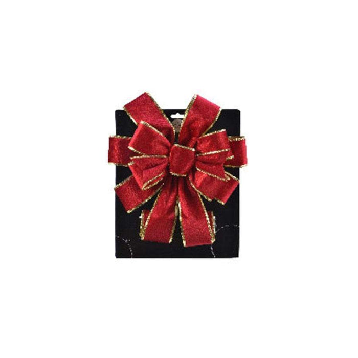 Kaemingk Red Wired Bow Tree Topper