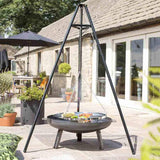 La Hacienda Tripod With Hanging BBQ Grill