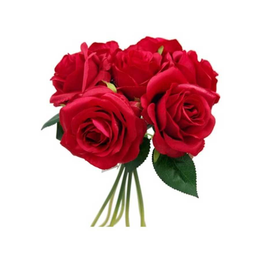 Large Open Rose Bundle Red
