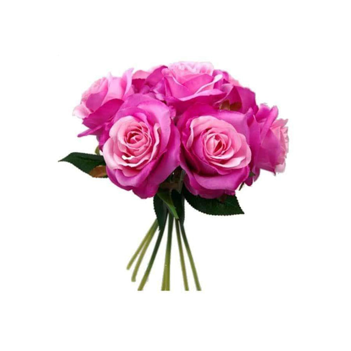 Large Seven Open Rose Bundle Pink