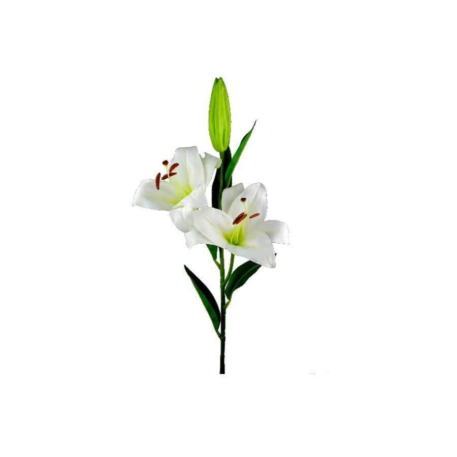 Large Tiger Lily Spray Ivory