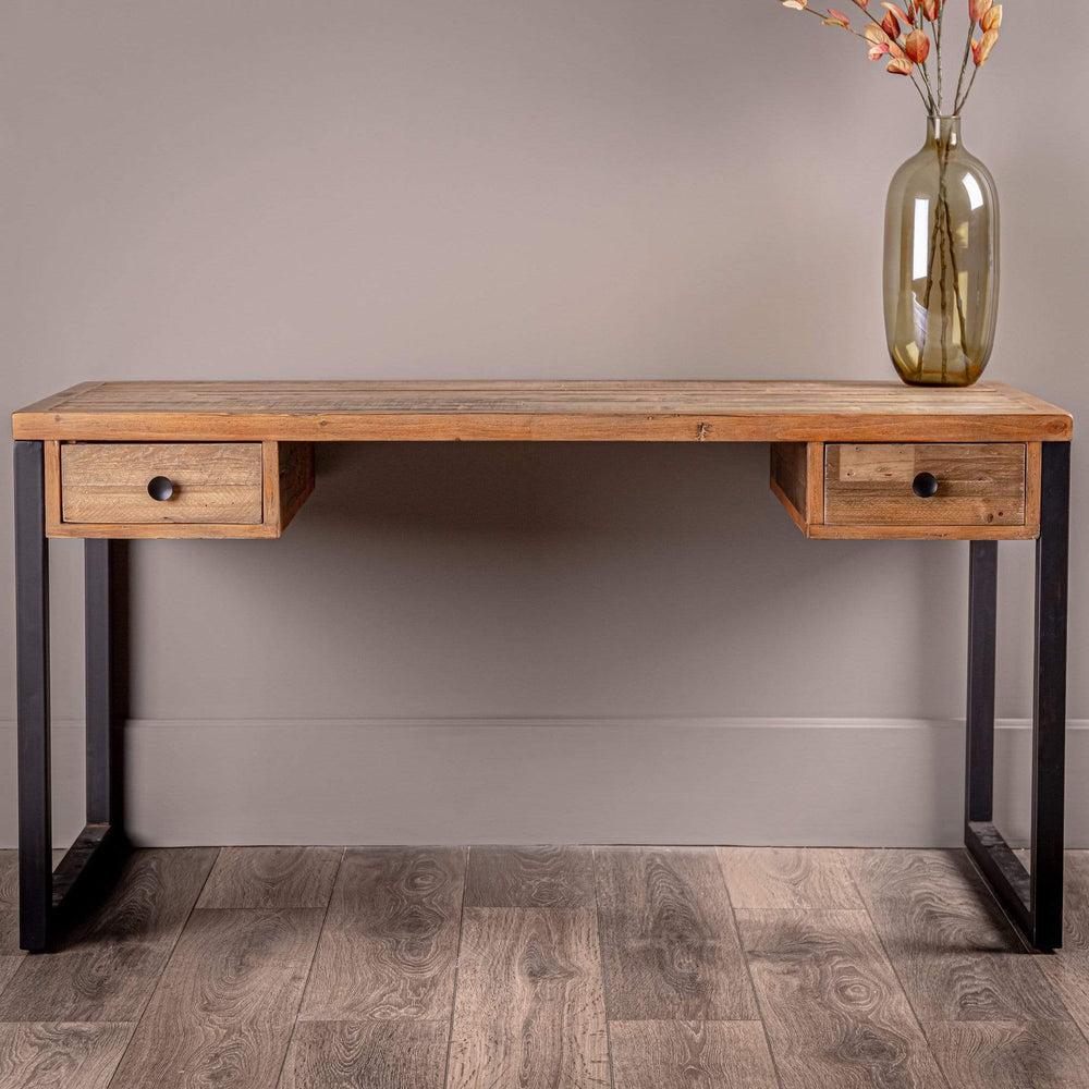Lincoln Rustic Oak Desk
