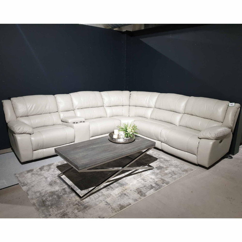Madrid Leather Electric Reclining Corner Sofa