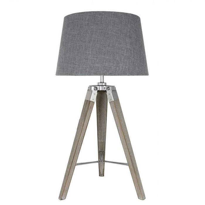Medium Hollywood Table Lamp With Natural Grey Shade