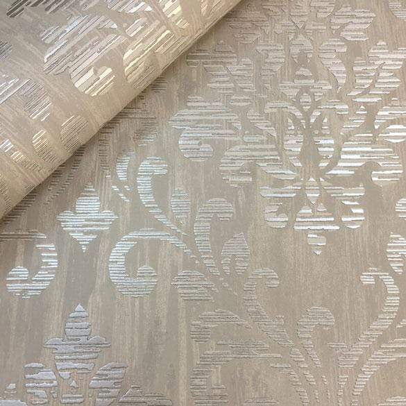 Muriva Charice Gold Damask Wallpaper - 702002