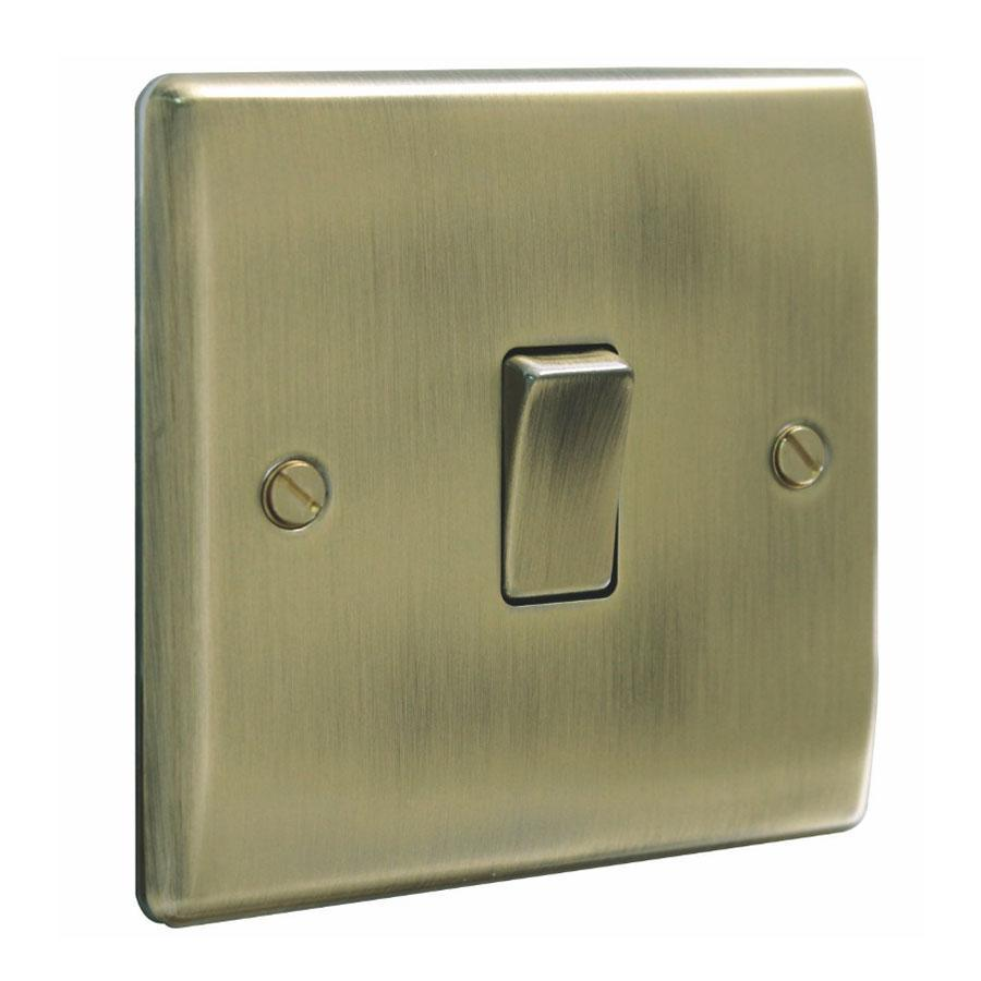 Nexus 10A 2-Way Single Antique Brass Light Switch