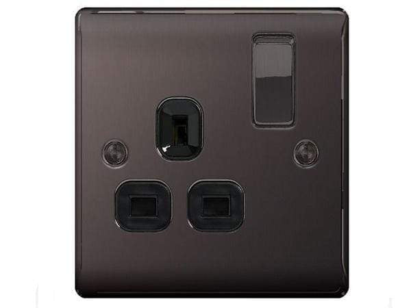 Nexus Metal Black Nickel Switched Socket