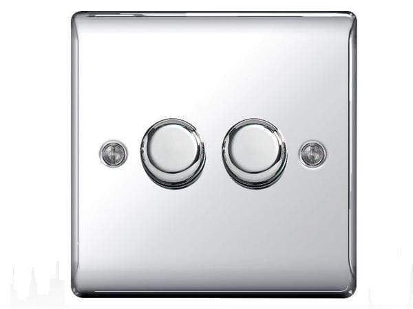 Nexus Metal Chrome Double Dimmer Switch