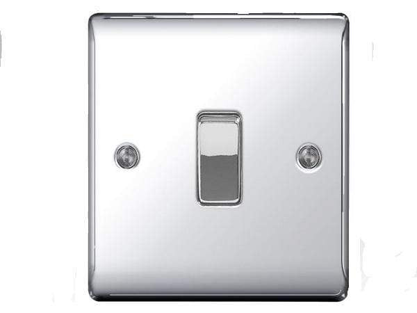 Nexus Metal Chrome Single Switch