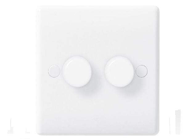 Nexus White Double Dimmer Switch