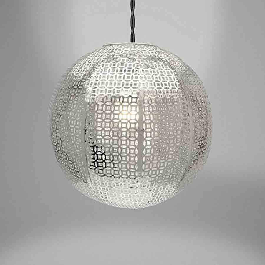 Nouveau Cadiz Silver Ball Non Electrical Light Shade Pendant
