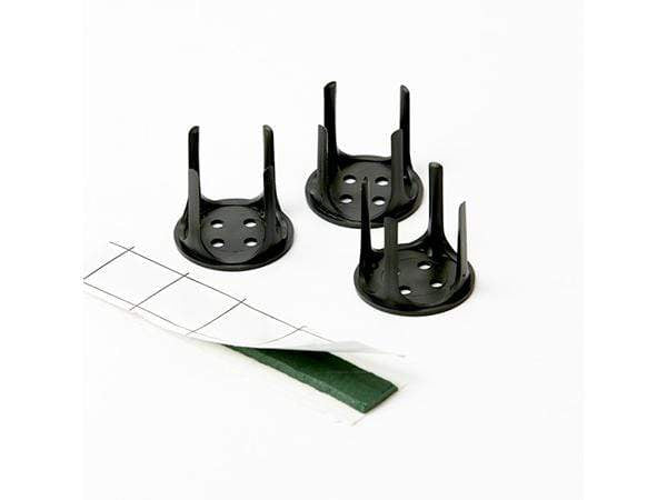 Oasis 3x3cm Fix Adhesive Tack and 5 Pin holders Green