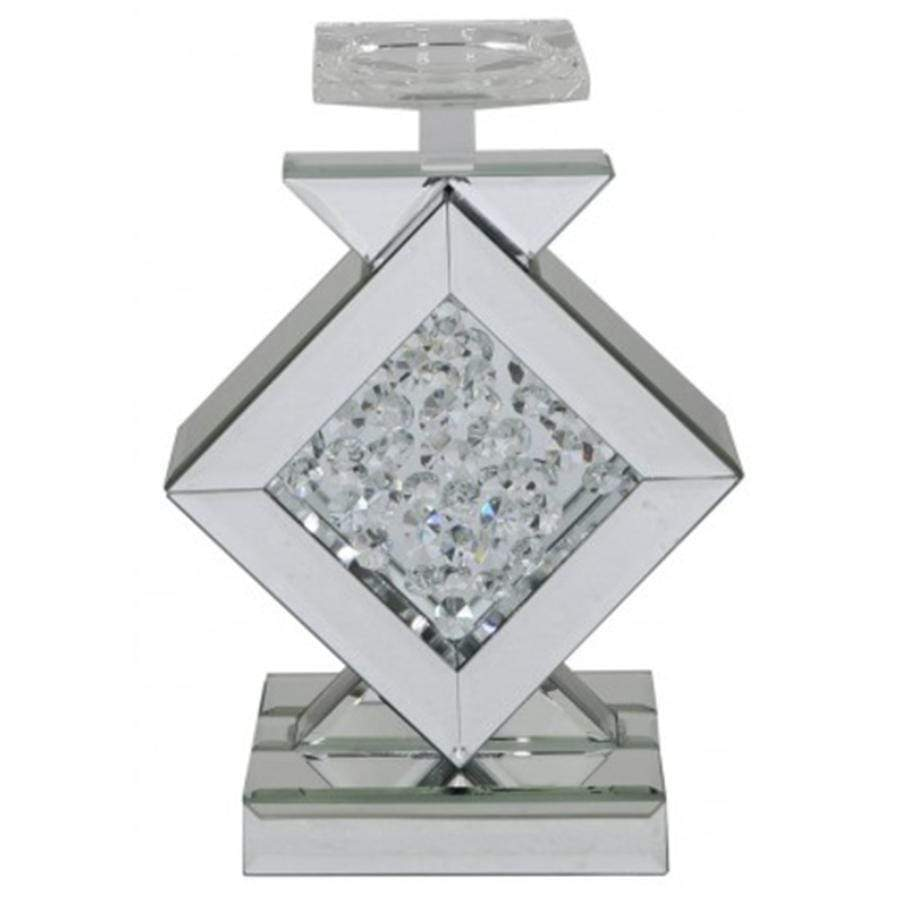 2 Crushed Diamond Mirror Candle Holders From Taskers