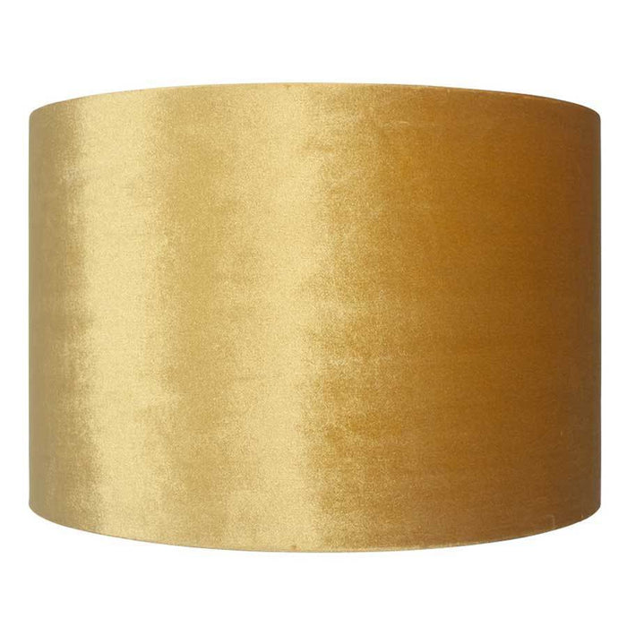 Pacific Lifestyle 40cm Mustard Velvet Cylinder Shade