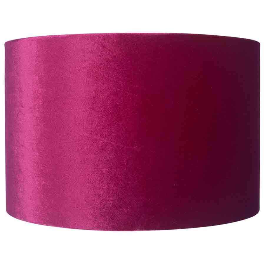 Pacific Lifestyle Raspberry Velvet Cylinder Lamp Shade