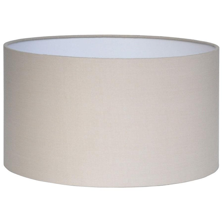 Pacific Lifestyle Taupe Poly Cotton Cylinder Drum Shade 35cm